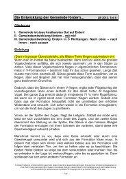 LB 2012 6 - Die Entwicklung der Gemeinde fördern ... - FEG Visp