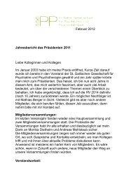 Februar 2012 Jahresbericht des Präsidenten 2011 Liebe ... - sggpp