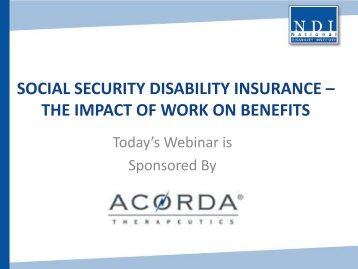 Social Security Disability Insurance – The Impact of Work on Benefits