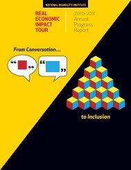 2010-2011 Real Economic Impact Tour Annual Progress Report