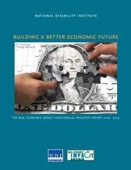 building a better economic future - National Disability Institute