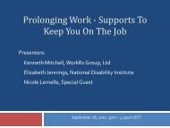 Prolonging Work - National Disability Institute