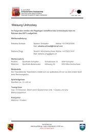 Weisung Unihockey - Schweizerischer Schulsporttag