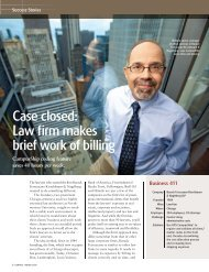 Case closed: Law firm makes brief work of billing