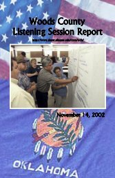 Woods County Listening Session Report - Oklahoma State University