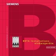 BETA Installationseinbaugeräte