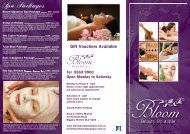 Spa Packages - Bloom Beauty Boutique
