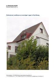Exklusives Landhaus an sonniger Lage in Herrliberg - Lindauer ...