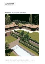 Contemporary Villa im «Les Parc de St. Tropez - Lindauer-Immobilien