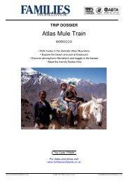 Trip Dossier for Morocco – Atlas Mule Train - Families Worldwide