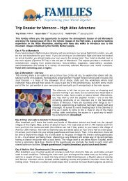 Trip Dossier for Morocco – High Atlas Adventure - Families Worldwide