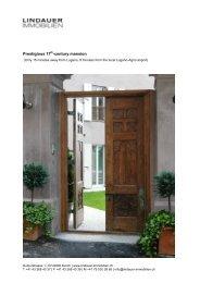 Prestigious 17 -century mansion - Lindauer-Immobilien