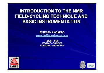 Introduction to the nmr-cycling technique and basic instrumentation