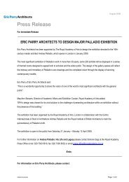Press Release - Eric Parry Architects
