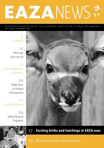 EAZA News. - European Association of Zoos and Aquaria
