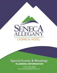 Special Events & Meetings - Seneca Allegany Casino & Hotel