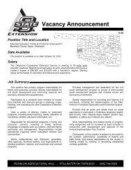 Extension Educator, Family & Consumer Sciences/4-H