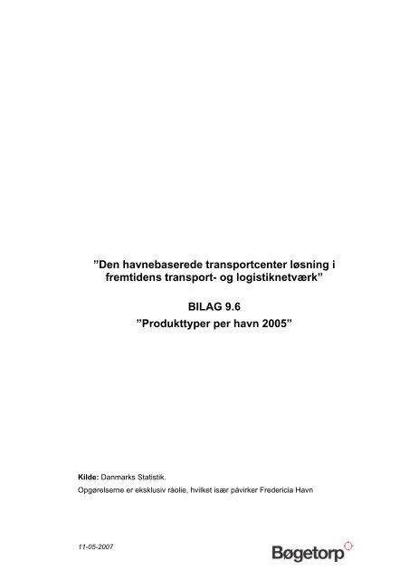 Produkttyper per havn - Danske Havne