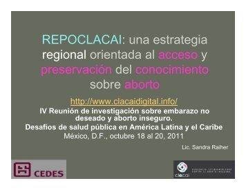 REPOCLACAI: una estrategia regional orientada al acceso y ...