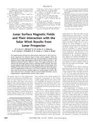 Lunar Surface Magnetic Fields and Their Interaction with the Solar ...
