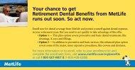 Retiree Dental Program—MetLife - Advocate Benefits