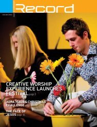 Creative worship experienCe launChes ... - RECORD.net.au