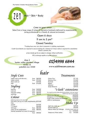 """i-lash"" extensions Make Up - Zen Hair Skin Body"