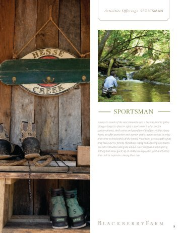 Outdoorsman Overview PDF - Blackberry Farm
