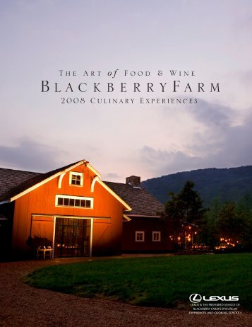 Food & Wine 2008 Schedule PDF - Blackberry Farm