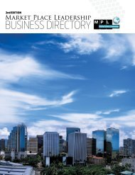 Market Place Leadership BUSINESS DIRECTORY - New Hope Oahu