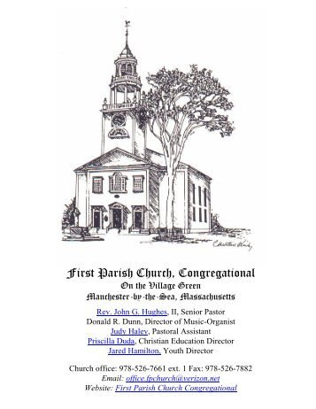 September 4 Bulletin - First Parish Church