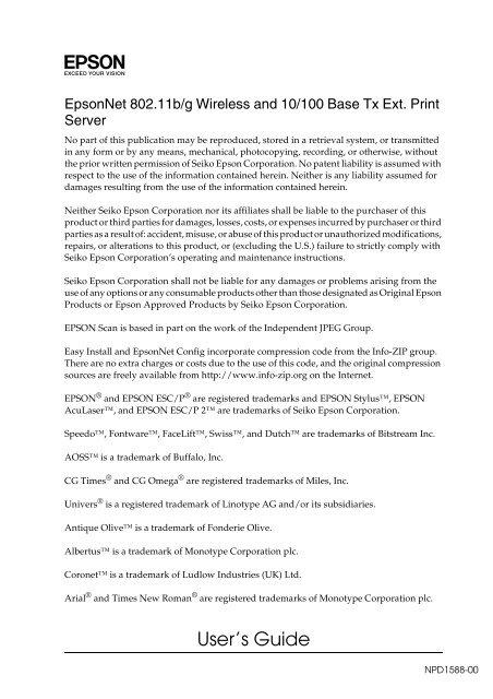EPSONNET 802.11BG TREIBER WINDOWS XP