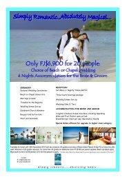 to open wedding package - Mana Island Resort
