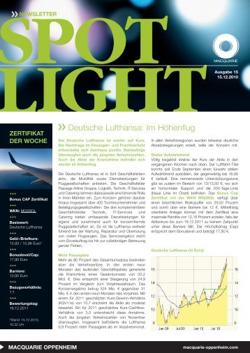 Deutsche Lufthansa: Im Höhenflug - Aktien