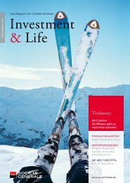 Investment & Life - Ausgabe 37, Dezember 2010 - Infoboard
