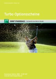 Turbo Optionsscheine - BNP Paribas