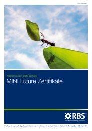 MINI Future Zertifikate - Infoboard