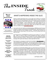 March 2009 Newsletter - Great Lakes Cobra Club