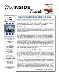 April 2011 Newsletter - Great Lakes Cobra Club