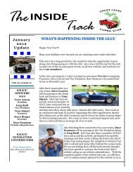 January 2012 Newsletter - Great Lakes Cobra Club