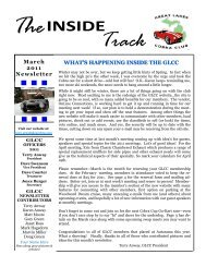 March 2011 Newsletter.pdf - Great Lakes Cobra Club