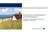 Nordcapital Direktzusagen: Handlungsbedarf und ... - MMM-Messe