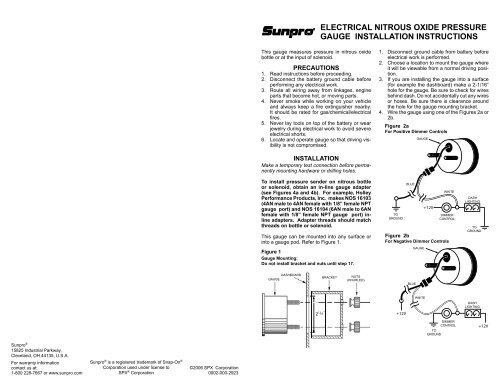 Astonishing Electrical Nitrous Oxide Pressure Gauge Installation Instructions Wiring 101 Akebretraxxcnl