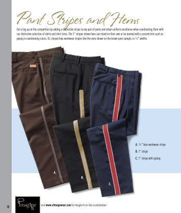 Pant Stripes and Hems - VF Imagewear