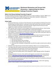 Elementary School Bullying Prevention Plans - Mariemont City ...