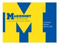 Slideshow - Mariemont City Schools
