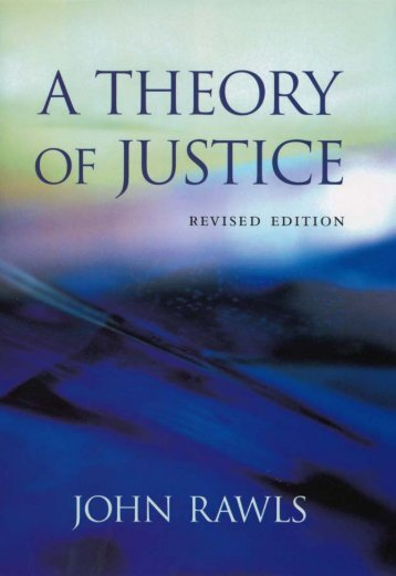 John Rawls - A Theory of Justice~ Revised Edition