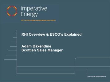 Renewable Heat Incentive Update - Wood Energy Scotland
