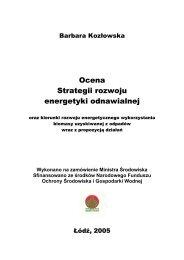 Ocena Strategii rozwoju energetyki odnawialnej - Polska ...