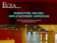 Implicaciones jurídicas - Marketing on Tour